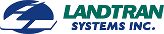 Green and blue logo for Landtran Systems Inc.
